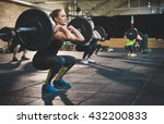 fit young woman lifting... | Shutterstock . vector #432200833