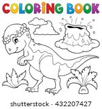 coloring book dinosaur topic 5  ... | Shutterstock .eps vector #432207427