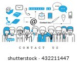 business people contact us on... | Shutterstock .eps vector #432211447