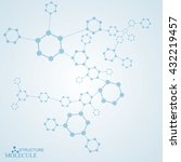 molecule and communication with ... | Shutterstock .eps vector #432219457