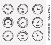 circular meter icon vector set. ... | Shutterstock .eps vector #432219673