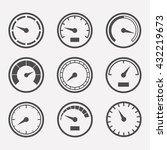circular meter vector set.... | Shutterstock .eps vector #432219673