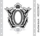 oval frame between laurel... | Shutterstock .eps vector #432225817