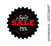 super sale banner. special... | Shutterstock .eps vector #432228697