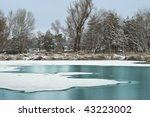 Frozen Winter Lake