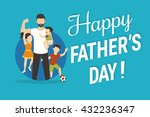 happy fathers day flat... | Shutterstock .eps vector #432236347