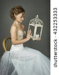 Young Actress Ballerina In A...
