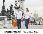 young couple shopping in paris   Shutterstock . vector #432260557