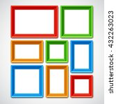 collafe of color picture frames ... | Shutterstock . vector #432263023