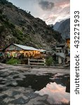 Small photo of Pakistan, Karakorum Highway, Road from Islamabad to Skardu, June 2015 - Restaurant placed by the mountain river