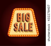 big sale banner with light... | Shutterstock .eps vector #432278407