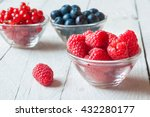 Assorted Berries In Glass Bowl...