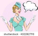 pin ups sexy stewardess with...