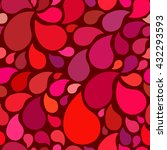red seamless pattern drops on... | Shutterstock .eps vector #432293593
