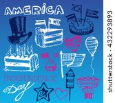 hand drawn set of american... | Shutterstock .eps vector #432293893