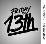 friday the 13th | Shutterstock .eps vector #432303757