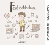 cute vector alphabet profession.... | Shutterstock .eps vector #432303997