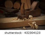 planer with wooden fillings | Shutterstock . vector #432304123