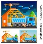 construction orthogonal... | Shutterstock .eps vector #432308893