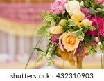 beautiful flowers on table in... | Shutterstock . vector #432310903