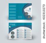brochure mock up design... | Shutterstock .eps vector #432313273