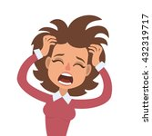 vector illustration of funny... | Shutterstock .eps vector #432319717