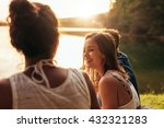 portrait of happy young woman... | Shutterstock . vector #432321283
