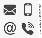 communication icons  smartphone ... | Shutterstock .eps vector #432329383