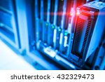 the main computer in a network. ... | Shutterstock . vector #432329473