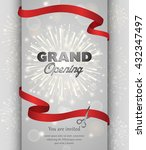 grand opening celebration... | Shutterstock .eps vector #432347497
