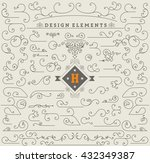 vintage ornaments decorations... | Shutterstock .eps vector #432349387