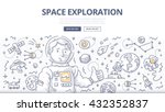 doodle vector concept of space... | Shutterstock .eps vector #432352837