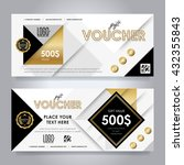 gift voucher template with... | Shutterstock .eps vector #432355843