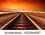 Train Tracks Goes To Horizon I...