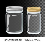 glass jars for canning and... | Shutterstock .eps vector #432367933