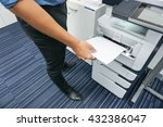 a man is printing document  ... | Shutterstock . vector #432386047