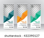 roll up banner stand template | Shutterstock .eps vector #432390127