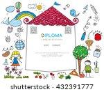 kids diploma preschool... | Shutterstock .eps vector #432391777