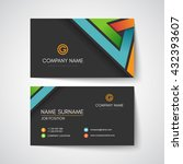 dark business card template | Shutterstock .eps vector #432393607