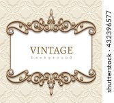 vintage card with diamond... | Shutterstock .eps vector #432396577