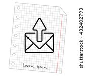 web line icon. outgoing message | Shutterstock .eps vector #432402793