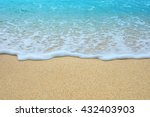 beautiful blue sea and sand | Shutterstock . vector #432403903