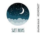 star sky card design. vector...   Shutterstock .eps vector #432405607