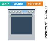 kitchen main stove unit icon....