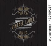 vintage typographic label
