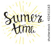 handwritten summer time... | Shutterstock .eps vector #432411163