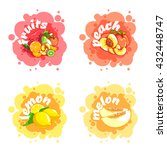 four stickers with different... | Shutterstock .eps vector #432448747