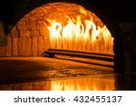 Flames In The Brick Oven Which...