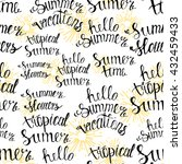 pattern summer handwritten... | Shutterstock .eps vector #432459433