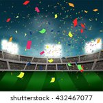 confetti and crowed of people... | Shutterstock .eps vector #432467077